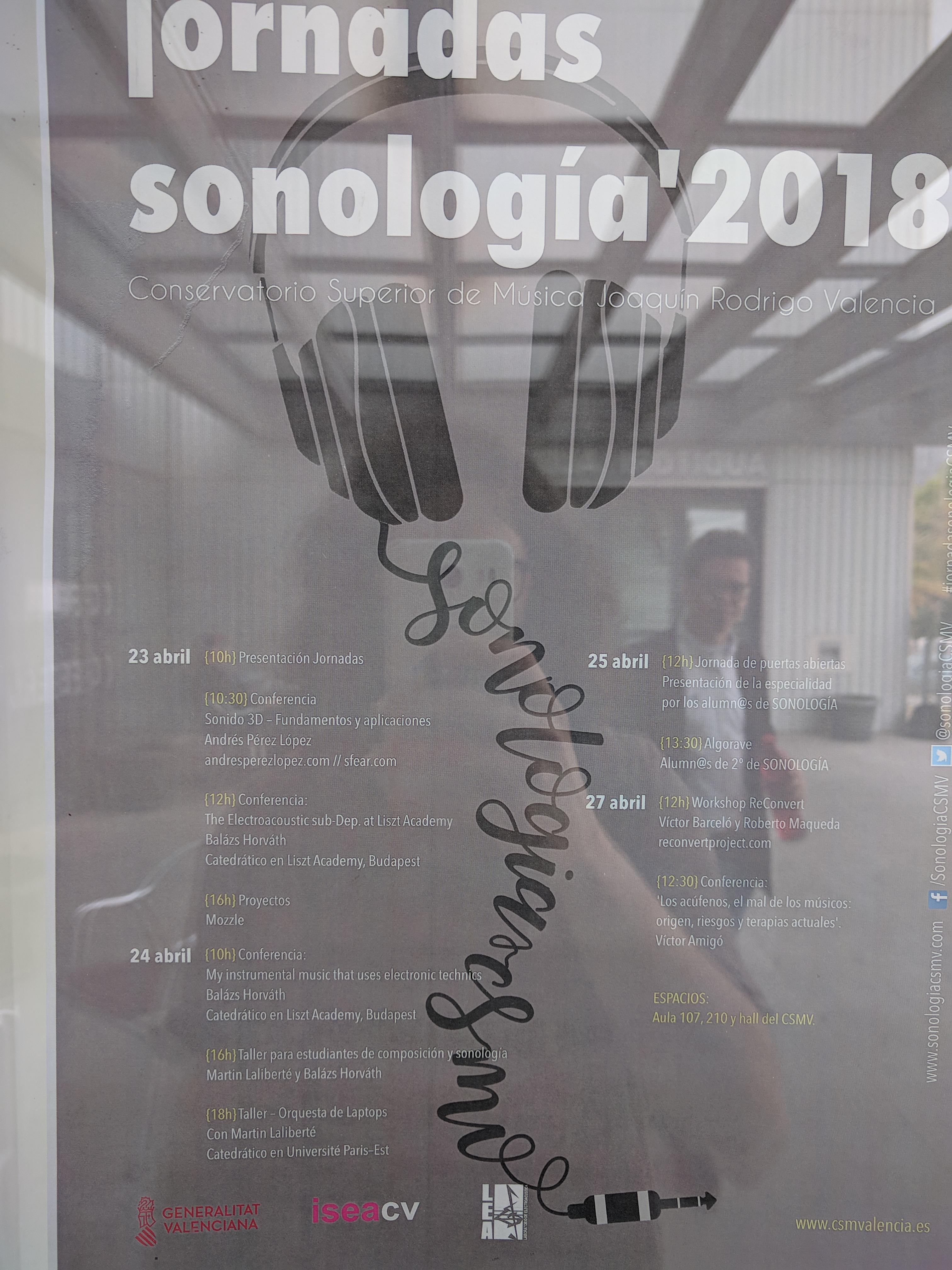 Jornadas de Sonología 2018